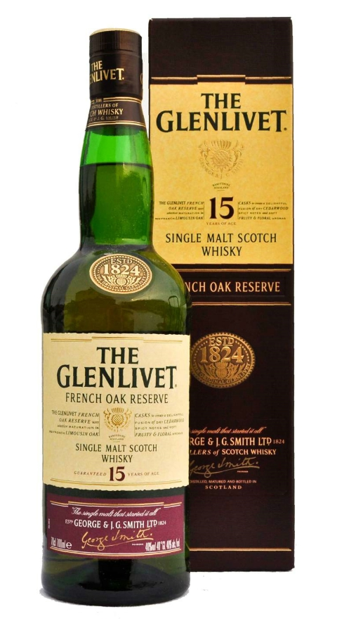 Glenlivet 15 years French Oak Reserve Whisky 70cl