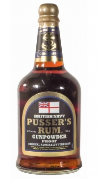 Pusser's Navy Gunpowder proof Black Label Rum 70cl