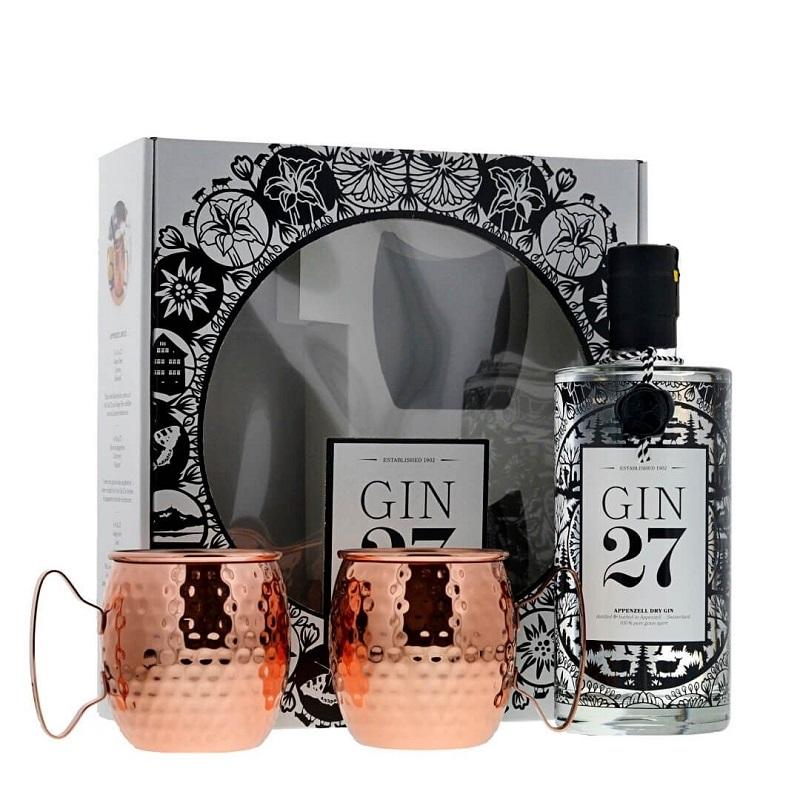 Gin 27 Set mit zwei Kupferbechern